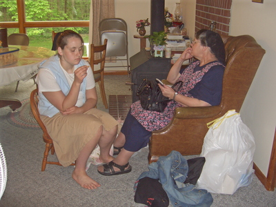 C- Potato Salad Day 2007 Rachel and her Mama